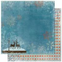 Scrapbooking Papier Blitzen - Snow Globe