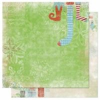 Scrapbooking Papier Blitzen - Stockings