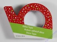 Heyda Deko Tape Sterne auf rot