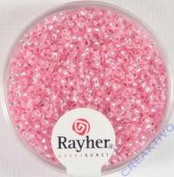Rocailles 2 mm ø mit Silbereinzug rosé