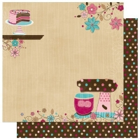 Scrapbooking Papier Sweet Tooth (Restbestand)