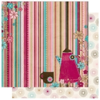 Scrapbooking Papier Sweet Tooth Stripe (Restbestand)