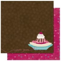 Scrapbooking Papier Sweet Tooth Yum (Restbestand)