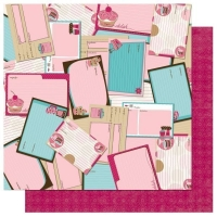 Scrapbooking Papier Sweet Tooth Recipes (Restbestand)