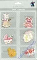 Papier Accessoires Baby Mädchen 6x6 Motive