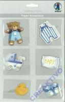 Papier Accessoires Baby Junge 6x6 Motive