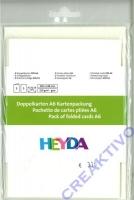 Heyda Color Kartenpackung 5 Kartensets perlweiß (Restbestand)