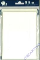 Heyda Color 5 Passepartout-Kartensets perlweiß (Restbestand)