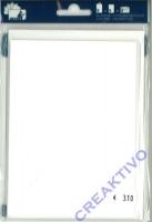 Heyda Color 5 Passepartout-Kartensets weiß (Restbestand)