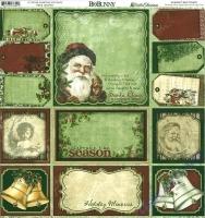Scrapbooking Papier Father Christmas Cut Outs