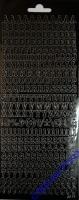 Rayher Stickerbogen ABC / 123 22x9cm schwarz
