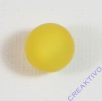 Polarisperle 12mm matt gelb