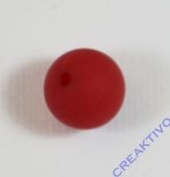Polarisperle 12mm matt rot