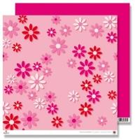 Scrapbooking Papier Karen Marie Klip - Big Pink Flowers