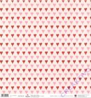 Scrapbooking Papier Karen Marie Klip - Hearts & Pink
