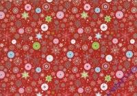 Motiv-Fotokarton 300g/qm 50x70cm Sterne groß rot
