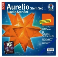 Aurelio Stern Set 30x30cm transparent orange