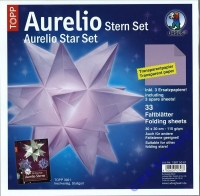 Aurelio Stern Set 30x30cm transparent flieder