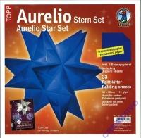 Aurelio Stern Set 30x30cm transparent blau