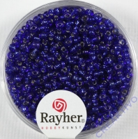 Rocailles 2 mm ø mit Silbereinzug dunkelblau