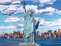 Malen nach Zahlen - Freiheitsstatue / Statue of Liberty