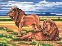 Malen nach Zahlen - Löwen