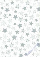 Transparentpapier A4 Sterne silber