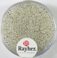 Rocailles 2 mm ø mit Silbereinzug silber