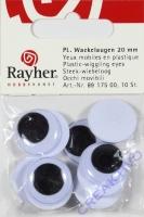 Wackelaugen 20mm 10Stück rund