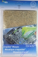 Crackle Mosaik Platte 15x20cm creme