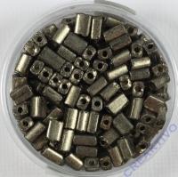 Metallrechtecke grau 4x2mm