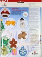 Gißform: Weihnachtsornamente 8 Stück 2,5-4,5cm