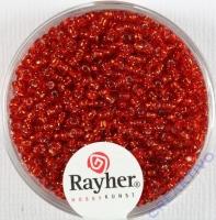 Rocailles 2 mm ø mit Silbereinzug rot