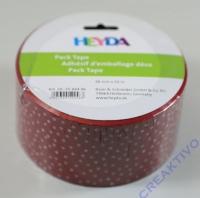 Heyda Pack Tape rot - weiße Punkte