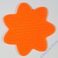Bügelperlen-Steckplatte Blume 8cm