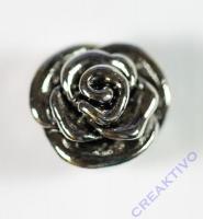 Pracht Großlochperle Rose altplatin
