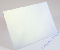 Karte B6 232x168mm 250g hochdoppelt weiß metallic