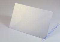 Tischkarte doppelt 100x90mm 250g weiß metallic