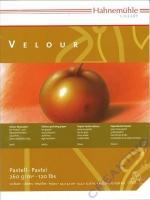 Pastel Paper Velour 24 x 32 cm Block 10 Blatt weiß