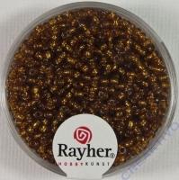 Rocailles 2 mm ø mit Silbereinzug dunkelbraun