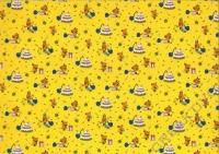 Bastelkarton Maus 50x70 cm 300g/qm gelb (Restbestand)