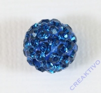 Shamballa Bead 10mm royalblau