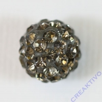 Shamballa Bead 10mm anthrazit