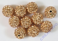 Shamballa Bead 12mm pfirsich