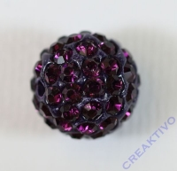 Shamballa Bead 12mm amethyst
