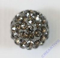 Shamballa Bead 12mm anthrazit