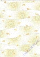 Transparentpapier A4 Mosaik - Sonne und Tauben, gold