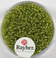 Rocailles 2 mm ø mit Silbereinzug hellgrün
