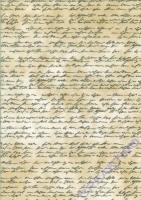 Transparentpapier A4 Handschrift antikbraun