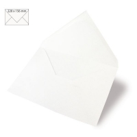 Kuvert A5 220x156mm 90g weiß